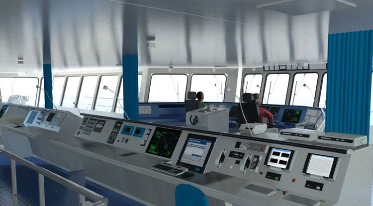 Ship Command Bridge