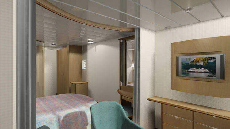 Ship cabin illustration