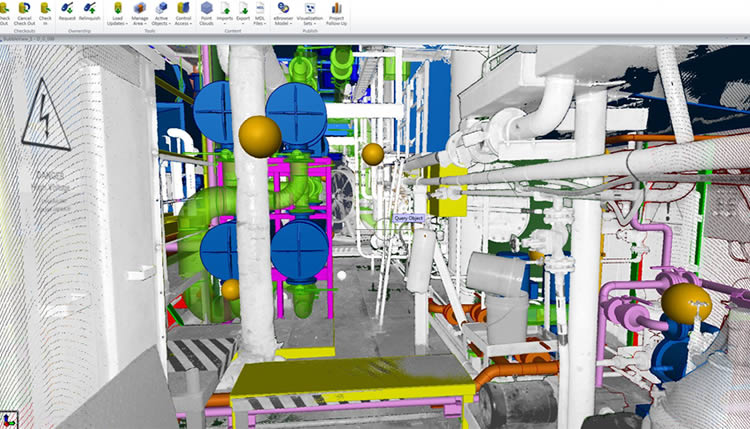 Oil rig design in point cloud