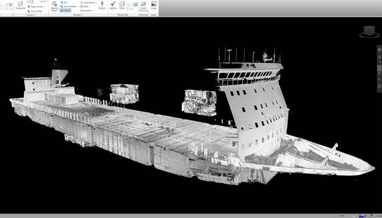 Point cloud deck area
