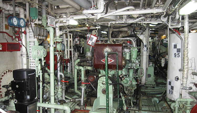 Tight engine room